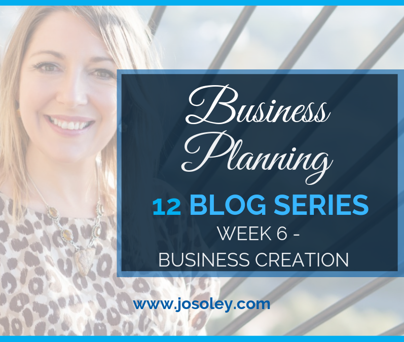 Business Planning Week 6 – Business Creation