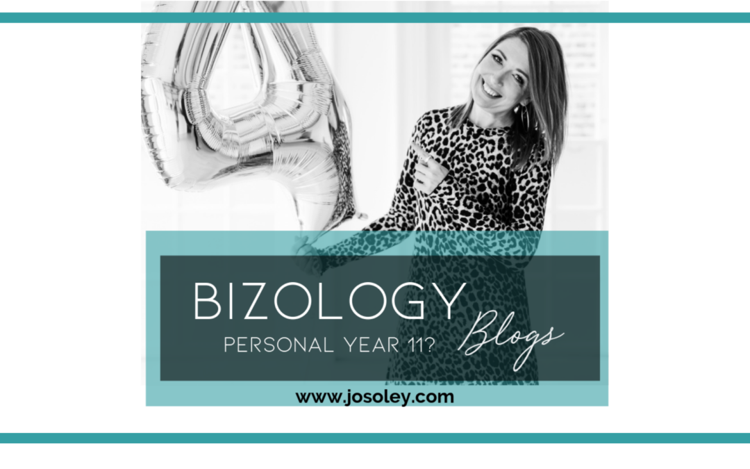 WHAT IT MEANS FOR ME & MY BUSINESS GOING INTO A PERSONAL YEAR 11