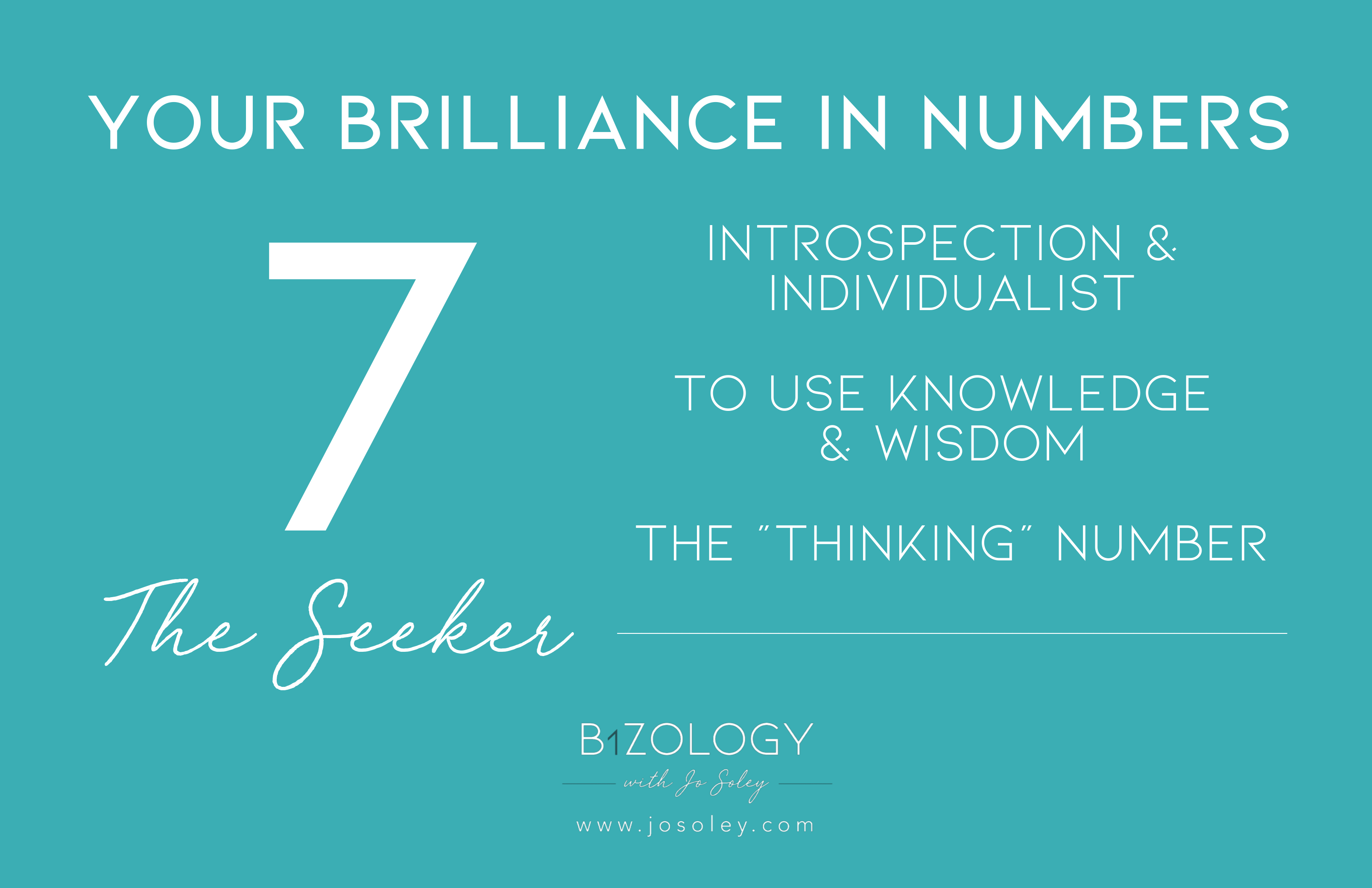 Numerology 7 meaning