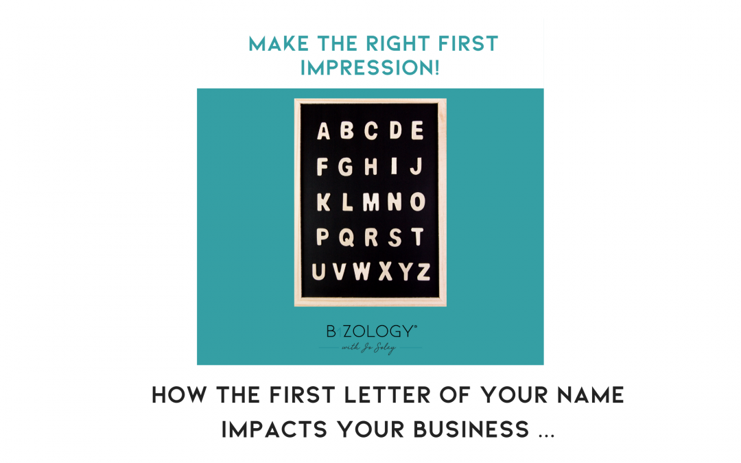 How the first letter of your name impacts your business …